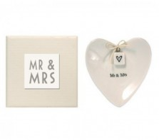 image of Mr and Mrs Porcelain Ring Dish