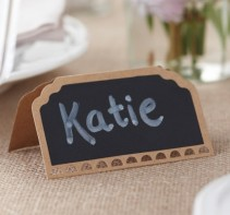 image of Vintage Place Cards - Chalkboard Kraft