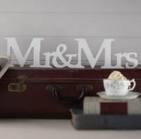 image of Mr & Mrs Freestanding Wooden Sign