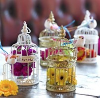 image of Be Happy White Small Birdcage