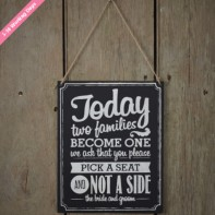 image of Chalkboard Wooden Sign - Two Sides Signs