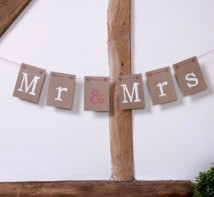 image of Just My Type - Chair Bunting - Mr and Mrs