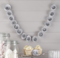 image of White Paper Flower Garland Decoration