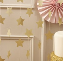image of Gold Star Garland - Pastel Perfection