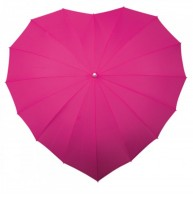 image of Heart Shaped Umbrella Various Colours