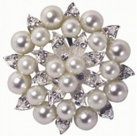 image of Pearl/Diamante Encrusted Flower 55mm