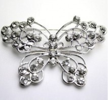 image of Rhinestone Butterfly Brooch