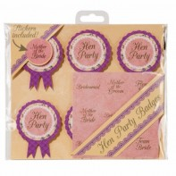 image of Truly Scrumptious Hen Party Badges