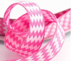 image of Chevron Ribbon - Various Colours 15mm x 10m