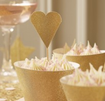 image of Heart Cup Cake Toppers