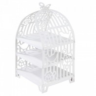 image of White Bird Cage Cake Stand