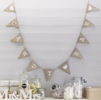 image of Candy Bar Hessian Burlap Bunting
