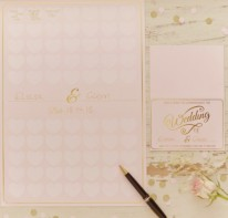 image of Heart Guest Book A3 Poster - Pastel Perfection