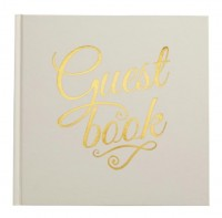 image of Ivory & Gold Foil Guest Book