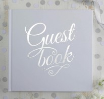 image of White & Silver Foil Guest Book